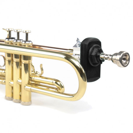 QuantiForce Brass PRO installed on trumpet